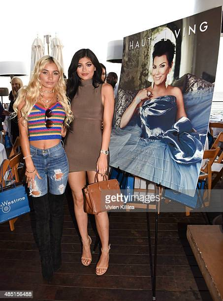 Pia Mia and Kylie Jenner attend Westime Celebrates Kris Jenner's Haute Living Cover at Nobu Malibu on August 24 2015 in Malibu California