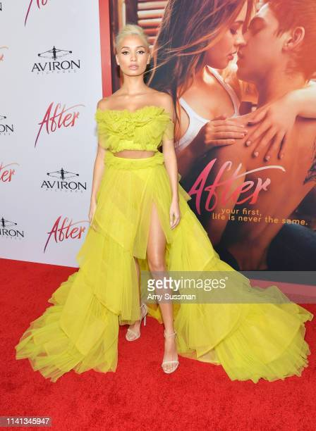 Pia Mia attends the premiere of Aviron Pictures' After at The Grove on April 08 2019 in Los Angeles California
