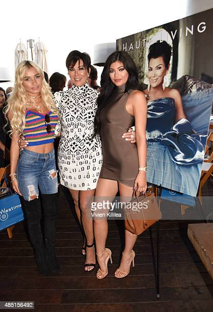 Pia Mia Kris Jenner and Kylie Jenner attend Westime Celebrates Kris Jenner's Haute Living Cover at Nobu Malibu on August 24 2015 in Malibu California