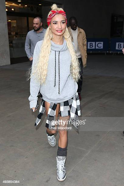 Pia Mia seen at BBC Radio One on October 23 2015 in London England