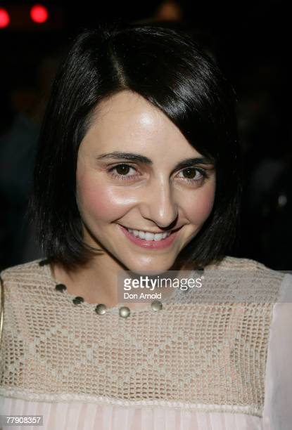Pia Miranda attends the premiere of `Toy Symphony' at the Belvoir St Theatre on November 14 2007 in Sydney Australia