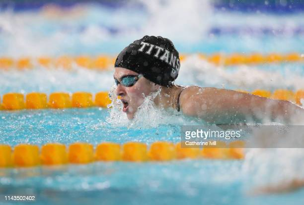 Pia Murray competes in the Women's 200m Butterfly heats during Day Three of the British Swimming Championships 2019 at Tollcross International...