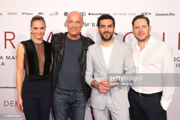 Pia Stutzenstein Heiner Lauterbach Elyas M'Barek and Marco Kreuzpaintner attend the Der Fall Collini premiere at Cinedome on April 18 2019 in Cologne...