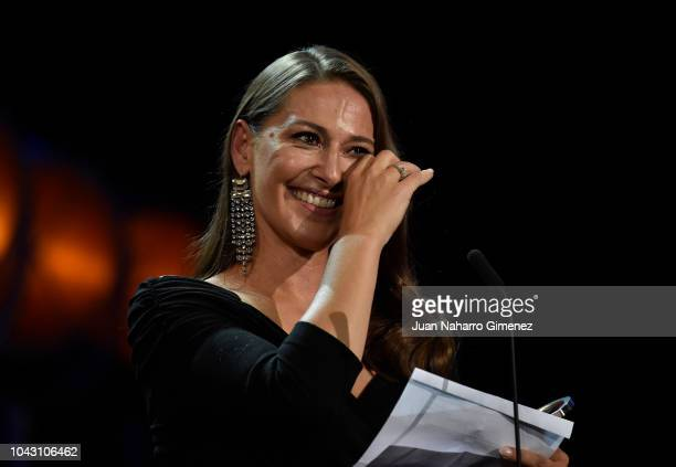 Pia Tjelta during the closing ceremony of 66th San Sebastian Film Festival at Kursaal on September 29, 2018 in San Sebastian, Spain.
