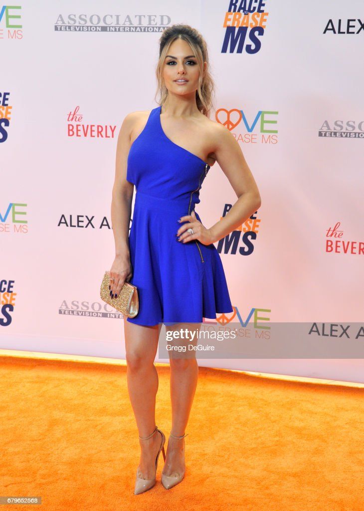 Pia Toscano arrives at the 24th Annual Race To Erase MS Gala at The Beverly Hilton Hotel on May 5, 2017 in Beverly Hills, California.