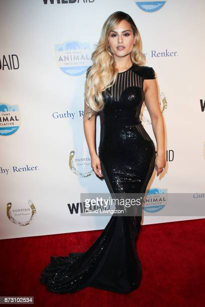 Pia Toscano arrives at the Evening with WildAid at the Beverly Wilshire Four Seasons Hotel on November 11 2017 in Beverly Hills California