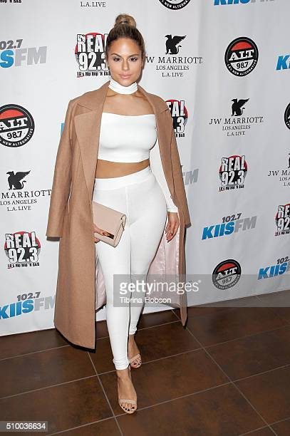 Pia Toscano attends Alt 987 1027 KIIS FM and REAL 923's 2016 GRAMMY Awards celebration at The Mixing Room at the JW Marriot Los Angeles on February...