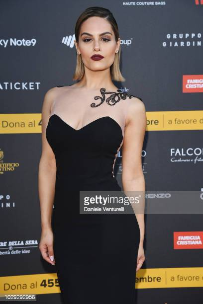 Pia Toscano attends Celebrity Fight Night at Arena di Verona on September 8 2018 in Verona Italy