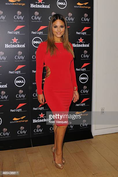Pia Toscano attends Red Light Management's Annual Grammy Afterparty at SkyBar at the Mondrian Los Angeles on January 26 2014 in West Hollywood...