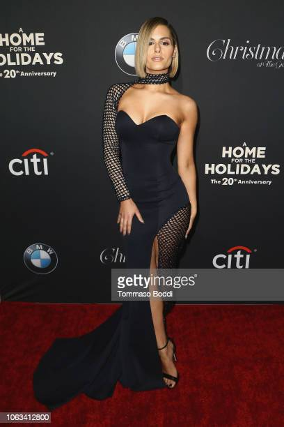Pia Toscano attends The Grove Christmas Tree Lighting at The Grove on November 18 2018 in Los Angeles California