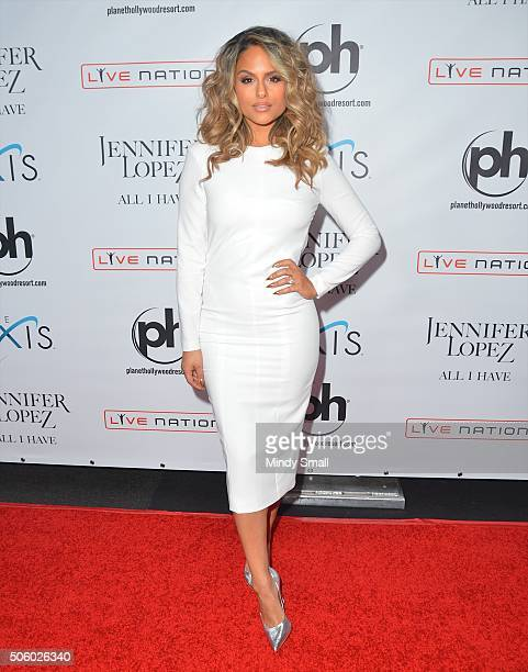Pia Toscano attends the launch of Jennifer Lopez's residency JENNIFER LOPEZ ALL I HAVE at Planet Hollywood Resort Casino on January 20 2016 in Las...