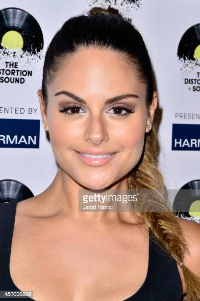 Pia Toscano attends the Los Angeles Premiere of 'The Distortion of Sound' at The GRAMMY Museum on July 10 2014 in Los Angeles California