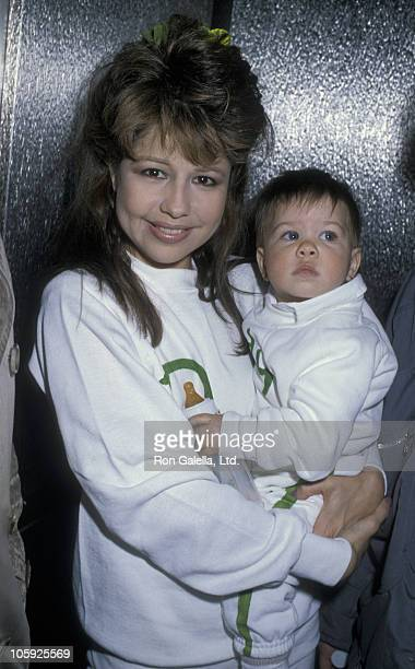 Pia Zadora and Kady Riklis during 1986 St Patricks Day Parade at Beverly Hills in Beverly Hills California United States