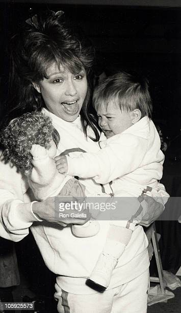 Pia Zadora and Kady Zadora Riklis during 1986 St Patricks Day Parade at Beverly Hills in Beverly Hills California United States