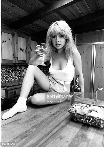 Pia Zadora photographed at home circa 1981 in Los Angeles California