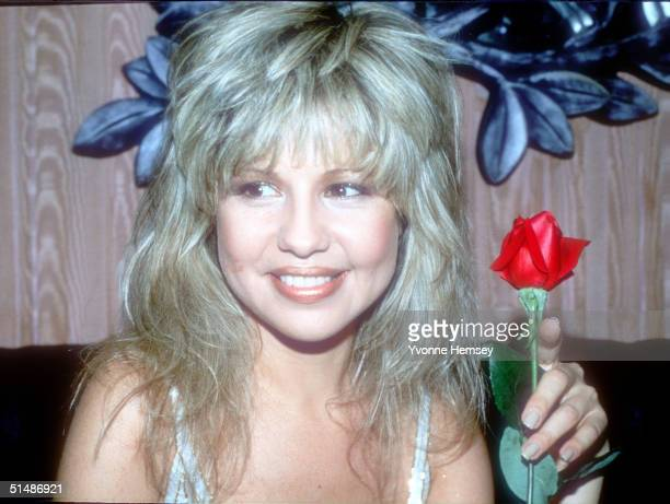 Pia Zadora poses at the premiere party in New York City for her movie Butterfly in this undated photo