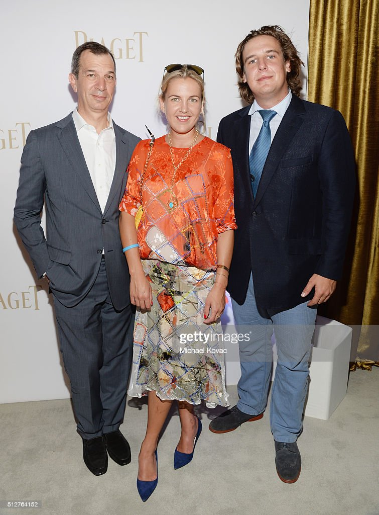Piaget CEO Philippe Leopold Metzer, Hanneli Rupert and Anton Rupert attend the 2016 Film Independent Spirit Awards sponsored by Piaget on February 27, 2016 in Santa Monica, California.
