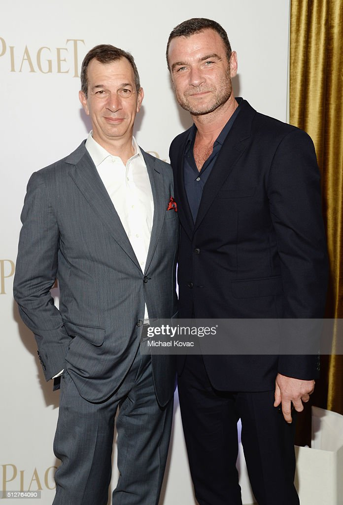 Piaget CEO Philippe Leopold-Metzger (L) and actor Liev Schreiber attend the 2016 Film Independent Spirit Awards sponsored by Piaget on February 27, 2016 in Santa Monica, California.