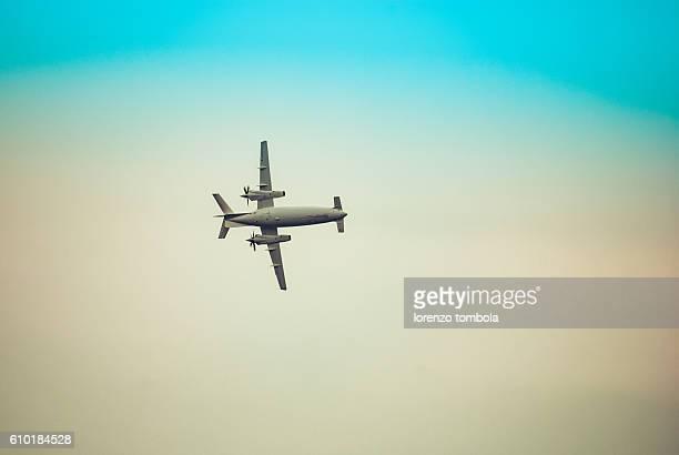 Piaggio P180 Avanti in flight
