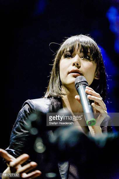 Pianist Alice Sara Ott performs live during a Yellow Lounge organized by recording label Deutsche Grammophon at Berghain nightclub on January 21 2013...