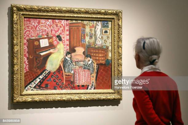 Pianist and checker player a painting of Henri Matisse at the exhibition MatisseBonnard Es lebe die Malerei at Staedel Museum on September 12 2017 in...