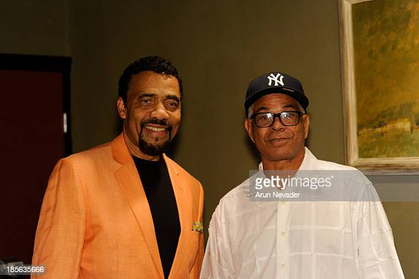 Pianist Bobby Lyle and promoter Verdell Adams attend the Kaylene Peoples My Man CD recording session featuring him on October 22 2013 at the Mouse...