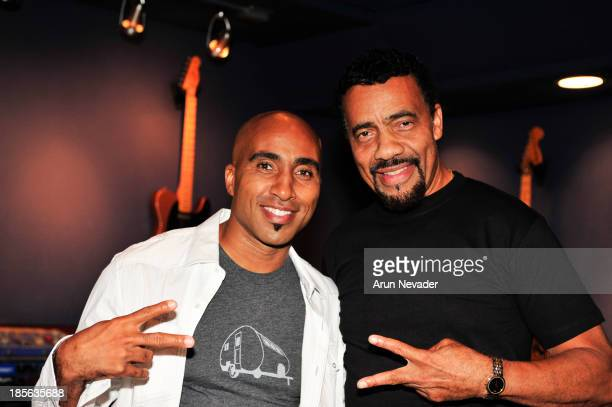 Pianist Bobby Lyle and son Robin Lyle attend the Kaylene Peoples My Man CD recording session featuring Bobby Lyle on October 22 2013 at the Mouse...