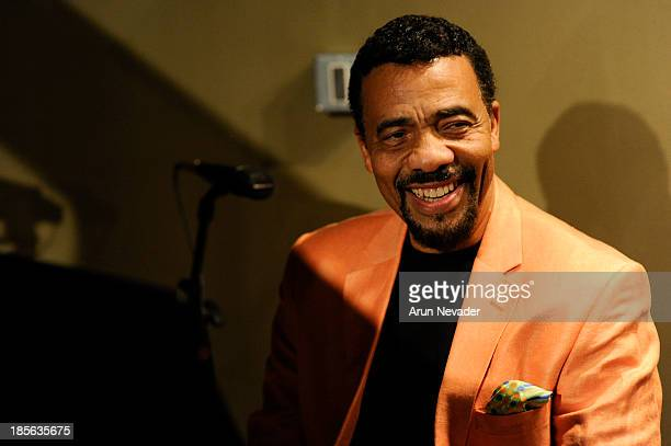 Pianist Bobby Lyle attends the Kaylene Peoples My Man CD recording session featuring him on October 22 2013 at the Mouse House Studio in Altadena...