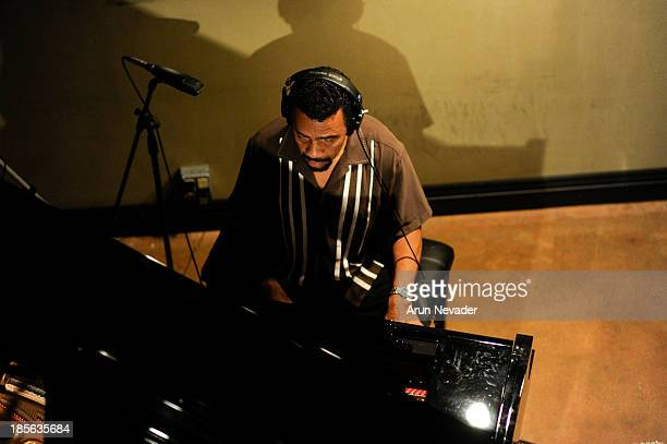 Pianist Bobby Lyle records his original song during the Kaylene Peoples My Man CD recording session featuring him on October 22 2013 at the Mouse...