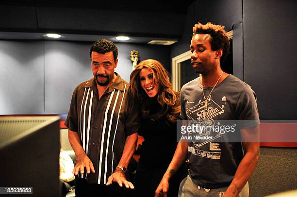 Pianist Bobby Lyle singer Kaylene Peoples and drummer Oscar Seaton attend the Kaylene Peoples My Man CD recording session featuring Bobby Lyle on...