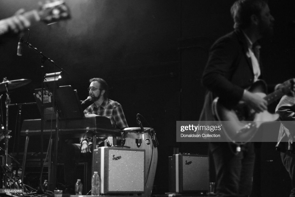 Pianist Bobby Wood and Dan Auerbach of the rock band 'Dan Auerbach and the Easy Eye Sound Revue' performs onstage at the Obervatory on February 18, 2018 in Santa Ana, California.