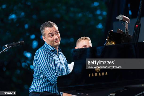 Pianist Bradley Moore performs 'Tu n'est pas beau, tu n'est pas riche' from Jacques Offenbach's 'La Perichole' at the fifth annual season-opening...