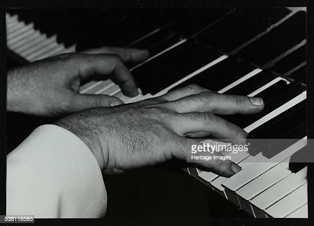 Pianist Brian Dee's hands at work Lansdowne Studios Holland Park London 1989 Artist Denis Williams