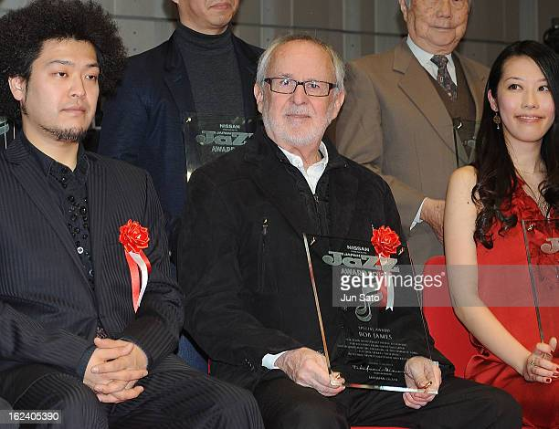 Pianist/ composer Bob James attends the Jazz Japan Award Ceremony at Nissan Motor Co Global Headquarters on February 23 2013 in Yokohama Japan