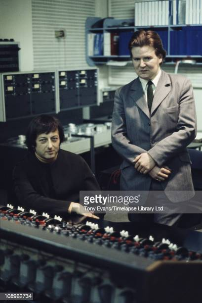 Pianist conductor and composer Andre Previn in a studio 1972