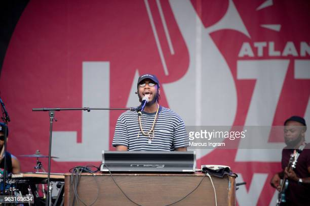 Pianist Cory Henry of Cory Henry The Funk Apostles peforms on stage during the 2018 Atlanta Jazz Festival at Piedmont Park on May 27 2018 in Atlanta...