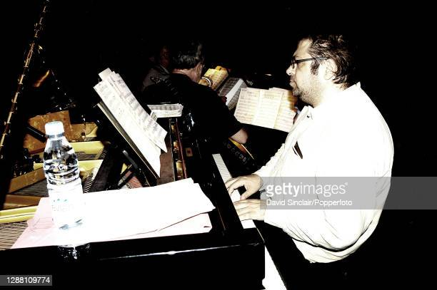 Pianist Dave Hartley performs live on stage at Ronnie Scott's Jazz Club in Soho London on 20th September 2004