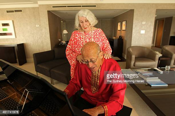 Pianist David Helfgott and his wife Gillian in their hotel room at the Hotel Intercontinental Sydney October 8 2013
