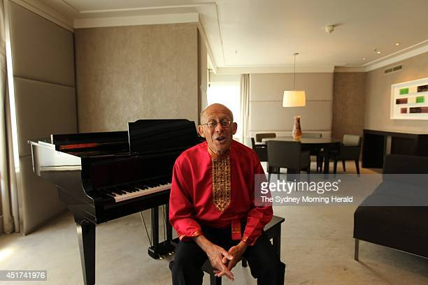 Pianist David Helfgott in his hotel room at the Hotel Intercontinental Sydney October 8 2013