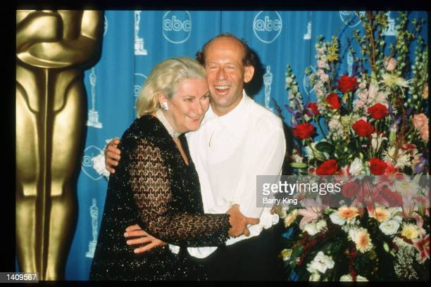 Pianist David Helfgott whose life is the basis for the film Shine poses backstage with his wife at the 69th Annual Academy Awards ceremony March 24...
