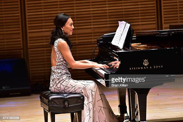 Pianist Elaine Kwon performs during the Elaine Kwon And Friends Concert Hosted By Best Buddies New York at Zankel Hall Carnegie Hall on May 20 2015...