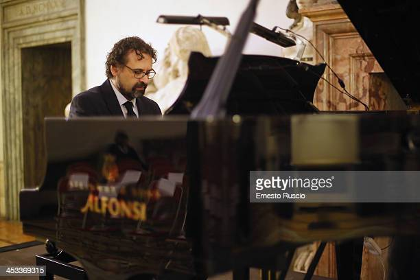 Pianist Francesco Lotoro attends the Arts and Letters Medal award ceremony at Palazzo Farnese on December 3 2013 in Rome Italy