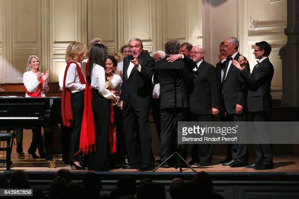 Pianist Francois Weigel Baron FrancoisXavier de Sambucy de Sorgue Opera Singer Ruggero Raimondi sing Carmen with 'Les Comperes' during the...