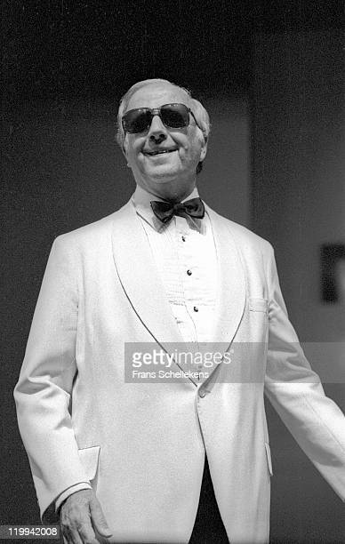Pianist George Shearing performs at the North Sea Jazz festival in the Congresgebouw, The Hague, Netherlands on 12th July 1986.