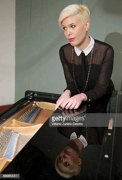 Pianist Giulia Mazzoni poses for a portrait on February 4 2014 in Milan Italy