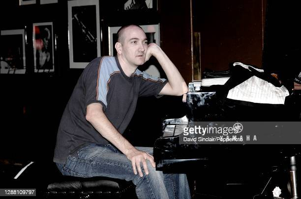 Pianist Graham Harvey performs live on stage at Ronnie Scott's Jazz Club in Soho London on 28th October 2007