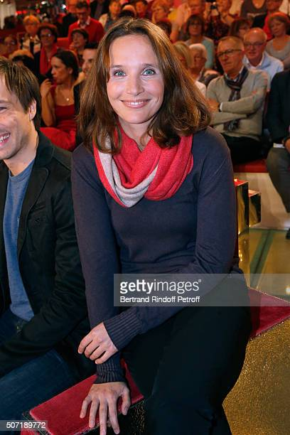 Pianist Helene Grimaud presents her Album 'Water' during the 'Vivement Dimanche' French TV Show at Pavillon Gabriel on January 27 2016 in Paris France