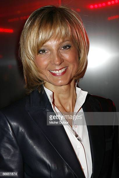 Pianist Helene Mercier Arnault stands backstage at the Christian Dior fashion show as part of Paris Fashion Week Spring/Summer 2006 on January 23...