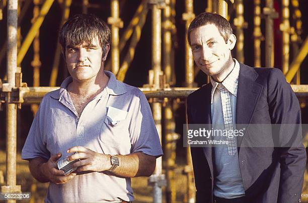 Pianist Ian Stewart and drummer Charlie Watts of the Rolling Stones 1976