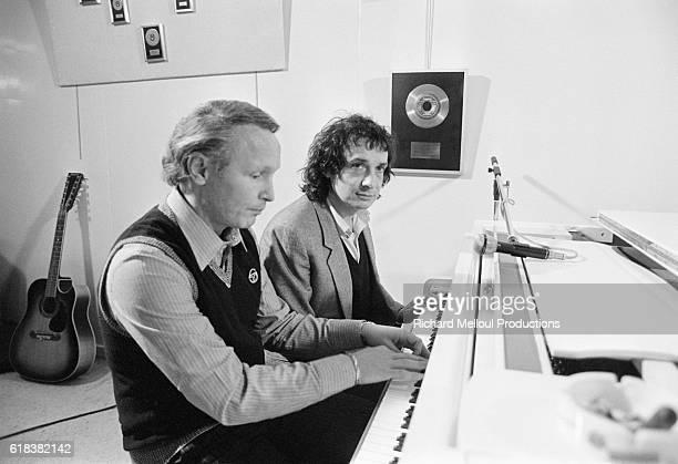 Pianist Jacques Revaux with Singer Michel Sardou